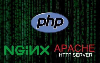 PHPとnginxとApacheのロゴ